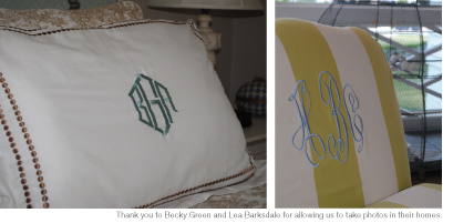 Preppy, Peppy and Personalized: Using Monograms at Home