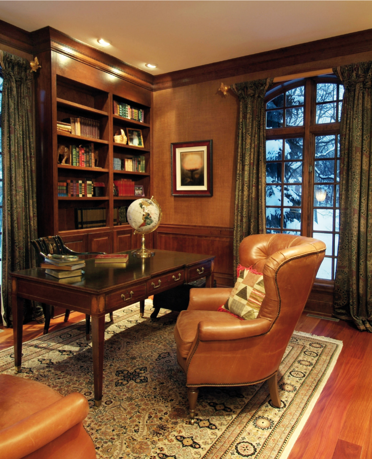 The gentleman s room creating a masculine aesthetic central virginia home magazine - Elegant office home design ...