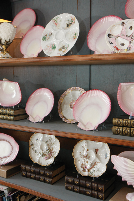 Antique Oyster Plates Collecting Pearls For Your China