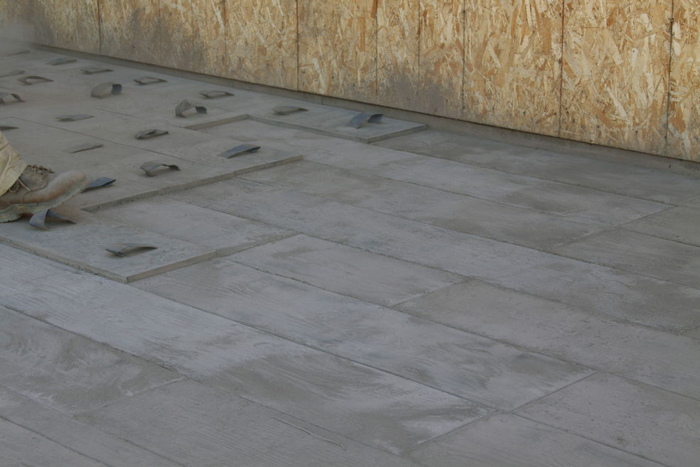You Can Also Go With A More Traditional Look Installers Create Faux Tiled Floor By Trawling An Overlay Of Concrete Onto Existing Floors Or