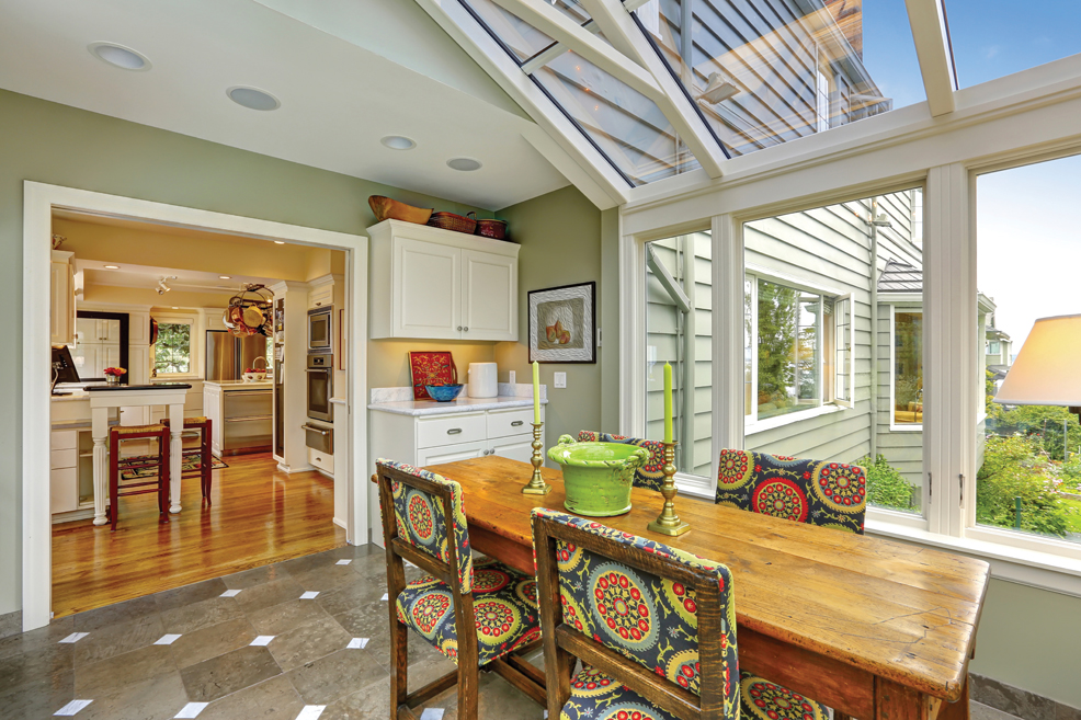 All about sunrooms find your place in the sun central for Great room addition off kitchen