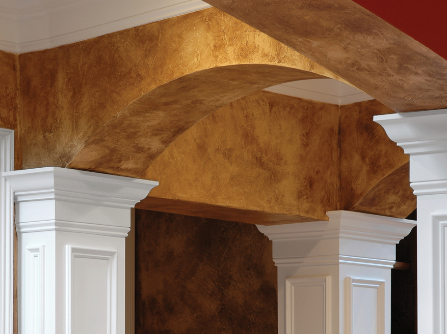 Look up creative ceiling treatments earn high marks Faux finishes for kitchen walls