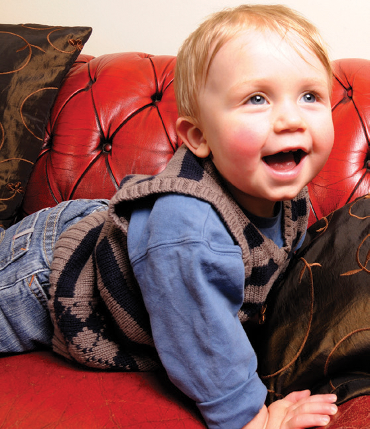 Small Boy on Sofa