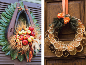 an article in the 1996 1997 colonial williamsburg journal by libbey oliver and mary theobald says that the idea to use fruit in decorations actually